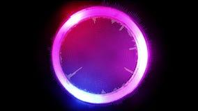 Cercle graphique futuriste de résumé, rougeoyant dans différentes couleurs, illustration 3D photos stock