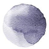 Cercle gris d'aquarelle Tache avec la texture de papier Élément de conception d'isolement sur le fond blanc Calibre abstrait tiré illustration stock