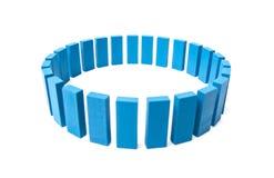 Cercle hors des blocs constitutifs bleus Images libres de droits