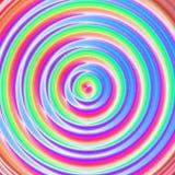 Cercle hypnotique de transe dans des couleurs au néon psychédéliques Photo libre de droits