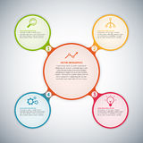 Cercle infographic Photos stock