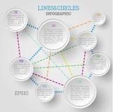 Cercle infographic Photos libres de droits