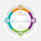 Cercle Infographic de pièce de quadruple Images stock