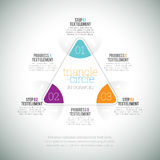 Cercle Infographic de triangle Photos stock