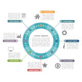 Cercle Infographics Image stock