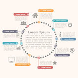 Cercle Infographics Photographie stock