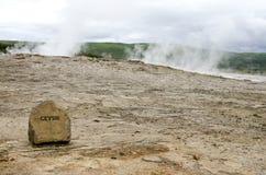 Cercle Islande-Haukadalur-Geysir-D'or Image libre de droits