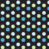 Cercle jaune et bleu blanc avec la ligne de grille blanche et bleue dessus à Image stock