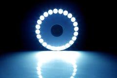 Cercle léger bleu Photo libre de droits