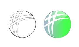 Cercle Logo Icon Graphic Design Image stock