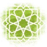 Cercle magique, la géométrie sacrée, lignes au néon rougeoyantes Photo stock