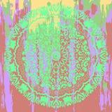 Cercle mystique de mandala dans le style de mehendi Images libres de droits