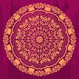 Cercle mystique de mandala dans le style de mehendi Photo libre de droits