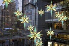 Cercle New York City Time Warner de Columbus de Noël Photo libre de droits