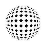 Cercle noir tramé Image stock