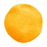 Cercle orange d'aquarelle Tache pour aquarelle sur le fond blanc illustration stock