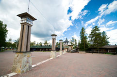 Cercle polaire chez Rovaniemi Image stock