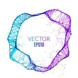Cercle polygonal de technologie abstraite Concept futuriste de réseau Drapeau créateur illustration stock