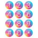 Cercle réglé de vecteur de nombre Photographie stock