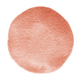 Cercle rouge d'aquarelle d'écarlate de flamme de Brown Tache pour aquarelle sur le fond blanc photographie stock libre de droits