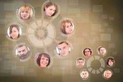 Cercle social de réseau Photos libres de droits