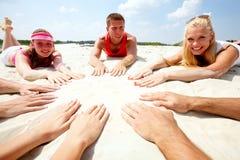 Cercle sur le sable Photographie stock libre de droits