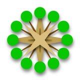 Cercle vert d'arbres d'icône de vecteur de la vie Image stock