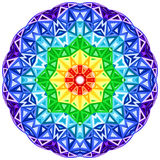 Cercle vibrant de vecteur de kaléidoscope d'arc-en-ciel Image libre de droits