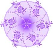 Cercle violet illustration de vecteur