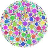 Cercles à l'intérieur de grands Photos libres de droits