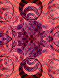 Cercles 2 de rouge Photo stock