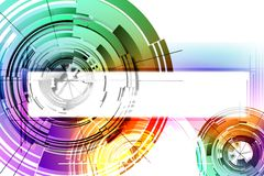Cercles abstraits Image stock