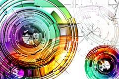 Cercles abstraits Photos stock