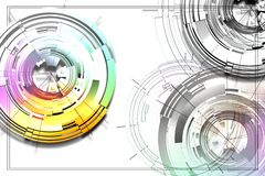 Cercles abstraits Photo stock