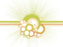 Cercles abstraits avec des lignes. Vecteur Photographie stock libre de droits