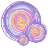 Cercles abstraits d'aquarelle Photo stock
