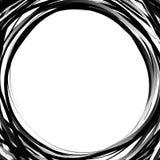 Cercles aléatoires de griffonnage Cercles concentriques dans un styl tiré par la main illustration libre de droits