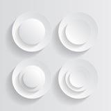 Cercles blancs Photographie stock