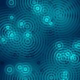 Cercles bleus Photographie stock libre de droits