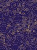 Cercles bleus d'or Illustration Stock