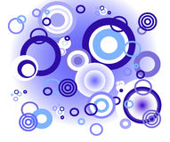 Cercles bleus de fond Photos libres de droits