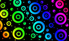 Cercles colorés Images stock