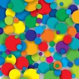 Cercles colorés Images libres de droits