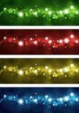 Cercles colorés abstraits Photos stock