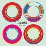Cercles colorés abstraits pour la conception de communication de technologie