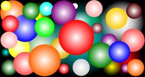 Cercles colorés dans différentes couleurs sur le fond noir Images libres de droits