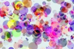 Cercles colorés de Bokeh Photo stock