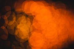 Cercles colorés de bokeh abstrait léger Images libres de droits