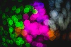 Cercles colorés de bokeh abstrait léger Photo stock