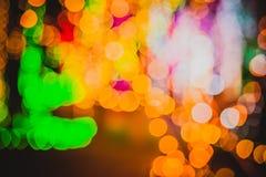 Cercles colorés de bokeh abstrait léger Image libre de droits